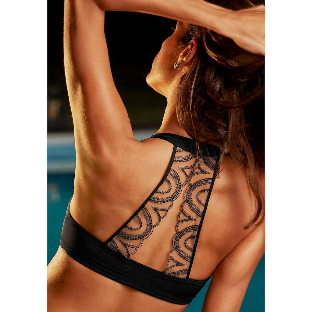 LASCANA Schalen-BH, mit Tattoo-Rücken und Vorderverschluss