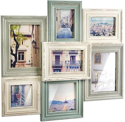 Bilderrahmen-Collage im Vintage-Stil