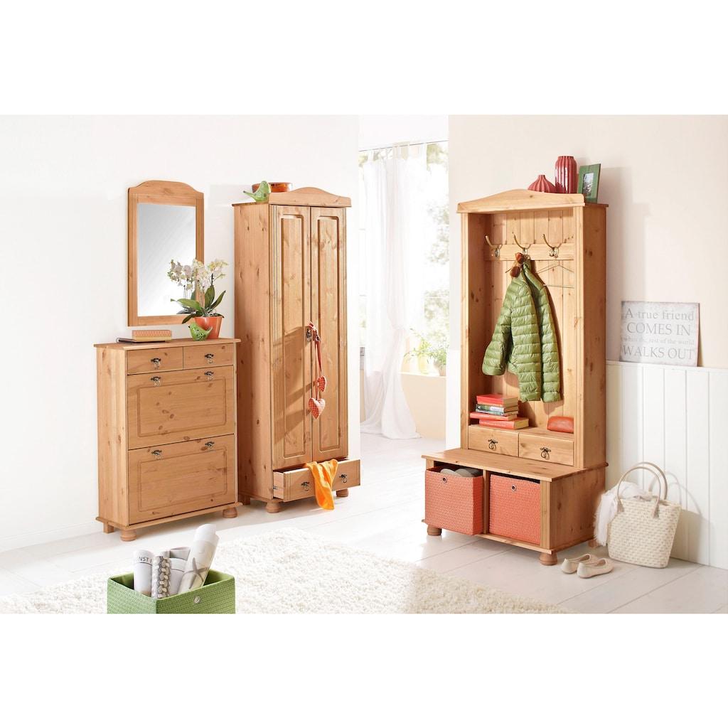 Home affaire Schuhkommode »Finca«, aus massivem Kiefernholz, Höhe 100 cm