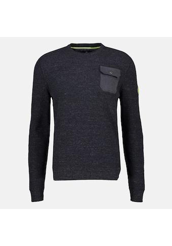 LERROS Strickpullover »Crewneck«, mit aufgesetzter Tasche kaufen