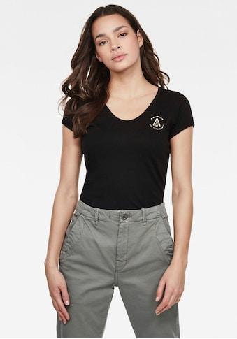 G-Star RAW V-Shirt »Circle gr eyben ringer slim«, mit V-Ausschnitt kaufen