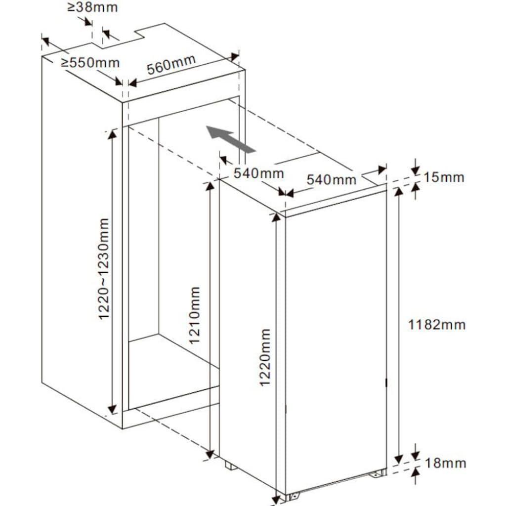 exquisit Einbaukühlschrank »EKS 201-4RVE A++«