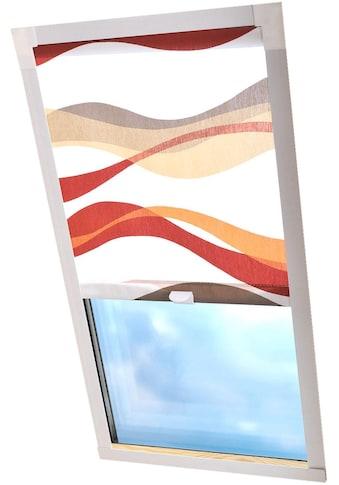 Liedeco Dachfensterrollo »Dekor«, Lichtschutz, in Führungsschienen, Dachfensterrollo... kaufen