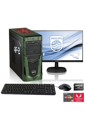 "Hyrican PC Ryzen 5 3400G, Radeon RX Vega 11 + 68 cm (27"") TFT »Multimedia PC SET1899« kaufen"