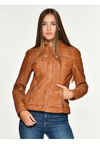 MUSTANG Lederjacke mit zwei Brusttaschen »Amilia« kaufen