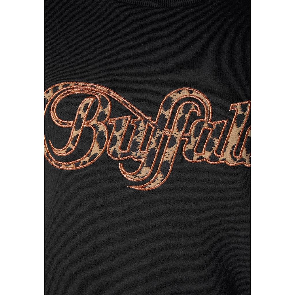 Buffalo Sweatshirt, Logo Applikation im Brustbereich