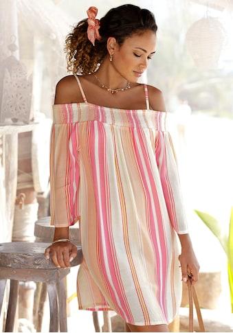 s.Oliver Beachwear Strandkleid, mit Streifenprint kaufen