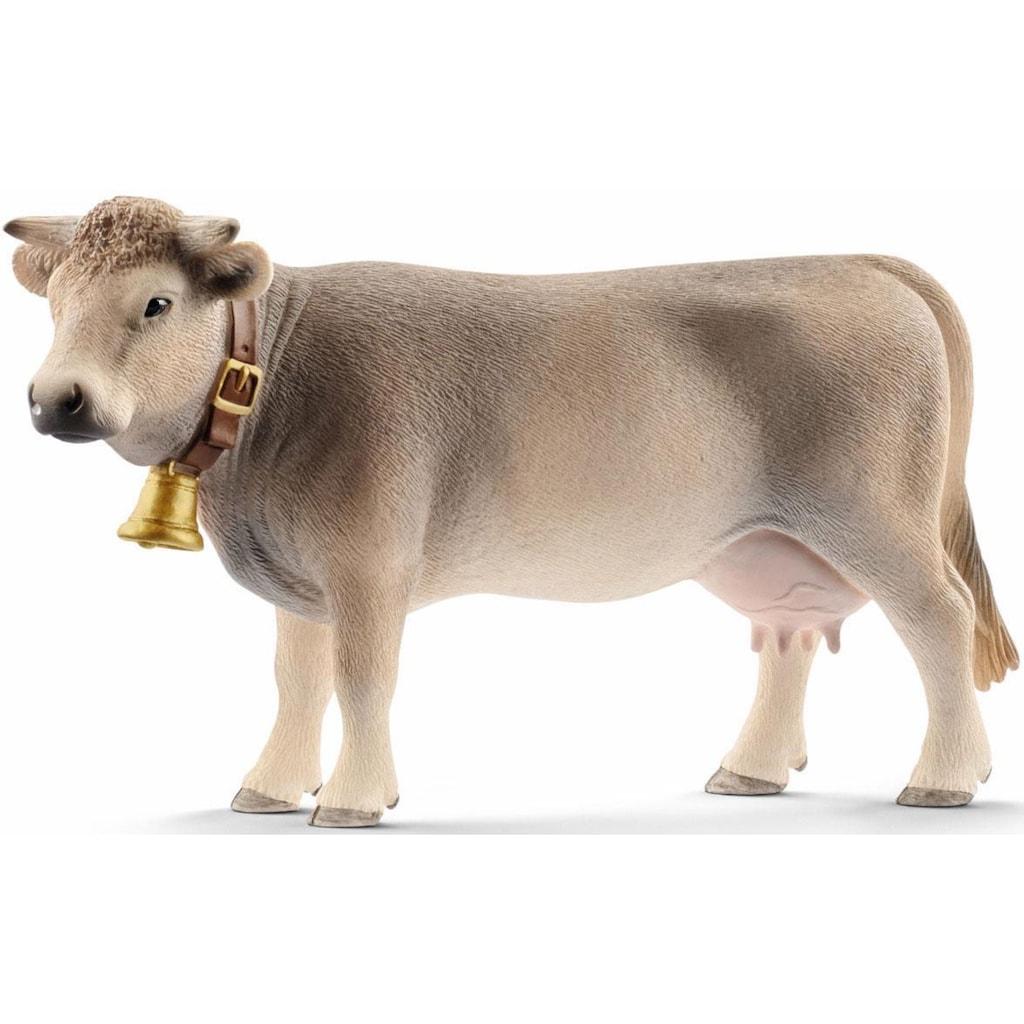 Schleich® Spielfigur »Farm World, Braunvieh Kuh (13874)«