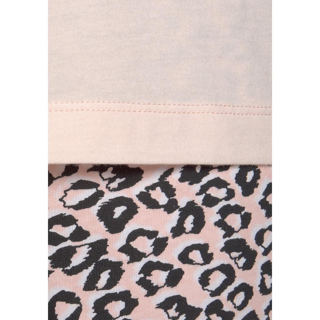 s.Oliver Bodywear Schlafanzug, mit Leo-Print