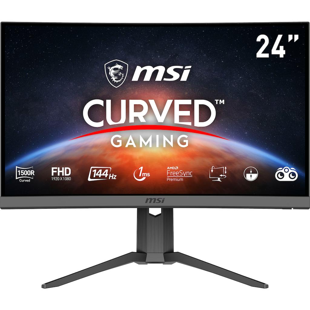 "MSI Curved-Gaming-Monitor »Optix G24C6P«, 60 cm/23,6 "", 1920 x 1080 px, Full HD, 1 ms Reaktionszeit, 144 Hz, höhenverstellbar"