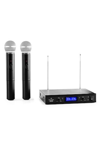 Malone 2-Kanal VHF-Funkmikrofon-Set 1x Empfänger 2 Handmikrofone kaufen