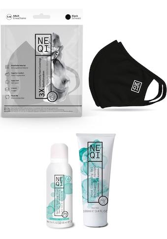NEQI Mund-Nasen-Maske, inkl. feuchtigkeitsspendende Handseife und Handreinigungsgel kaufen