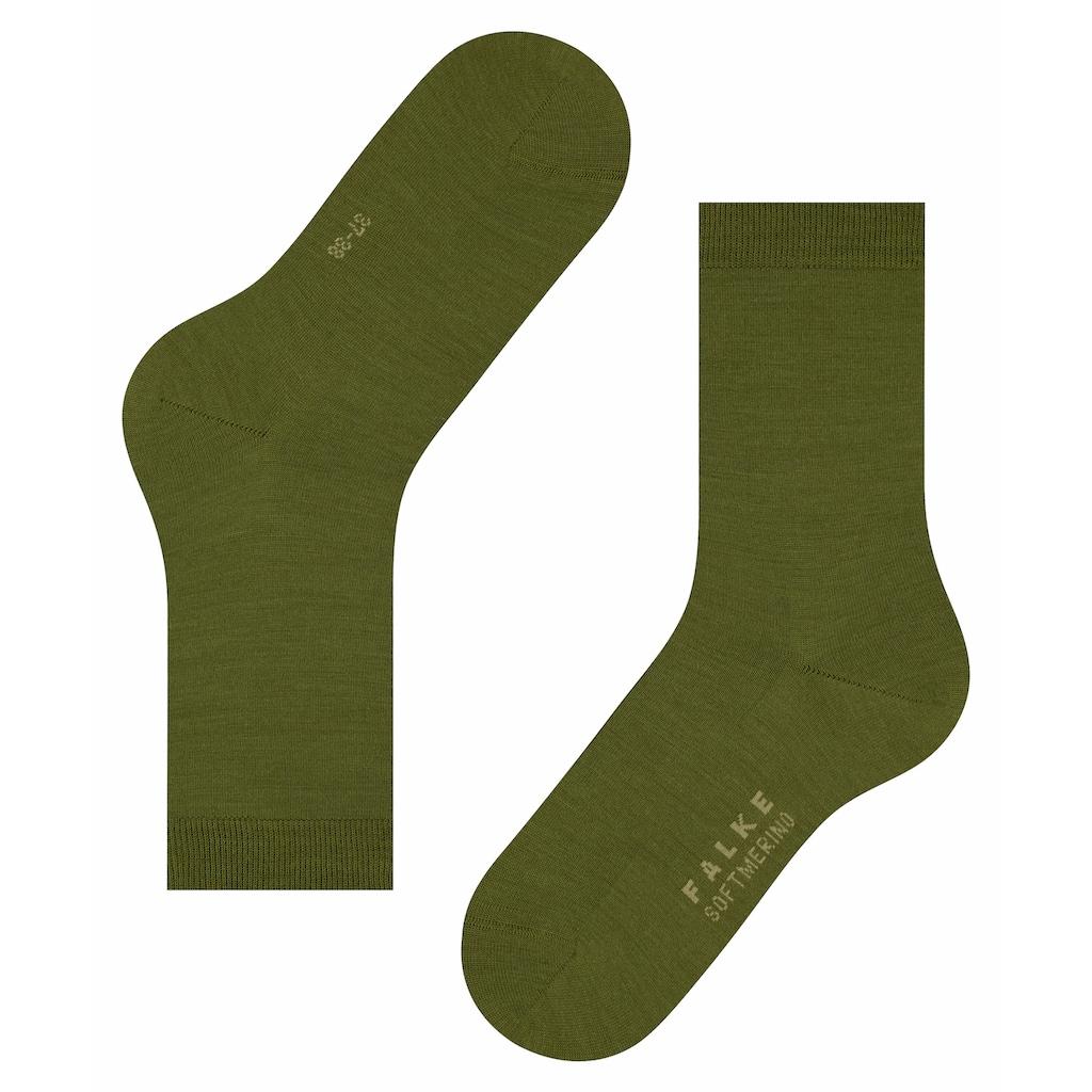 FALKE Socken »Softmerino«, (1 Paar), mit Merinowolle