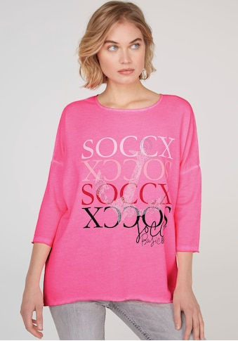 SOCCX Sweatshirt, mit großem Frontmotiv mit silberfarbenen Nietendetails kaufen