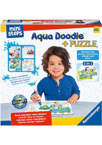 "Ravensburger Kreativset ""ministeps® Aqua Doodle® Puzzle: Heimische Tiere"" kaufen"