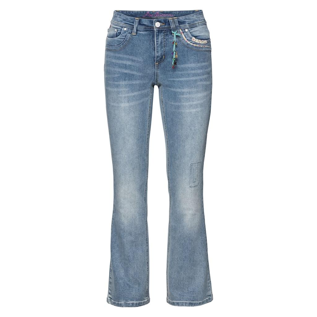 sheego by Joe Browns Stretch-Jeans, Kleiner Anhänger vorn