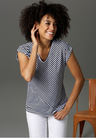 Aniston CASUAL T-Shirt, im Streifen-Mix - NEUE KOLLEKTION kaufen