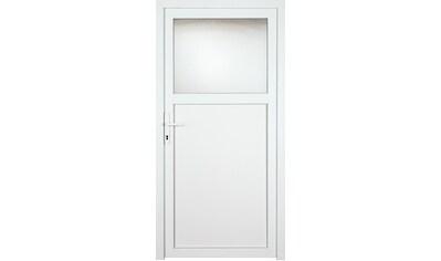 KM Zaun Nebeneingangstür »K601P«, BxH: 98x198 cm, weiß, links kaufen