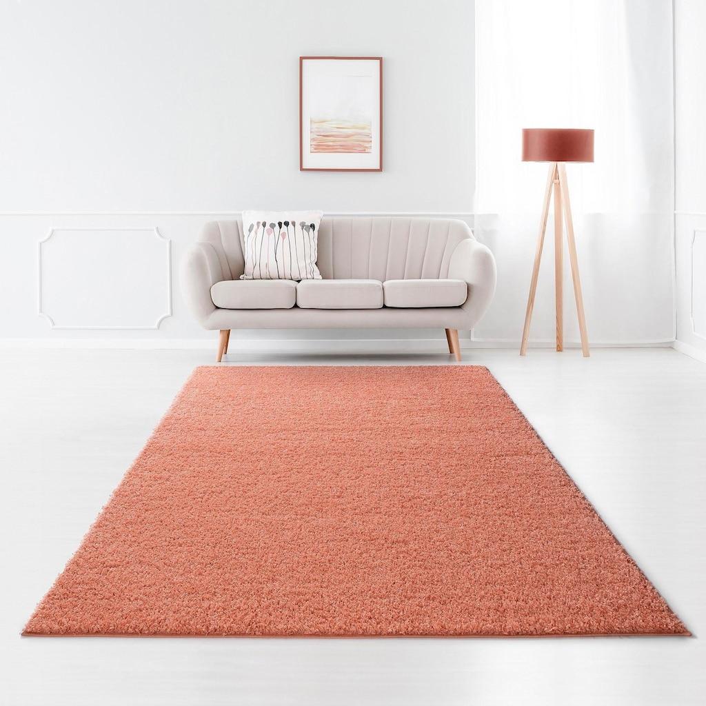 Home affaire Hochflor-Teppich »Shaggy 30«, rechteckig, 30 mm Höhe, gewebt, Wohnzimmer