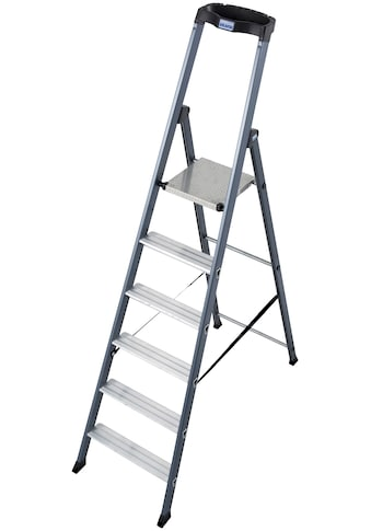 KRAUSE Stehleiter »SePro S«, Alu eloxiert, 1x6 Stufen, Arbeitshöhe ca. 325 cm kaufen