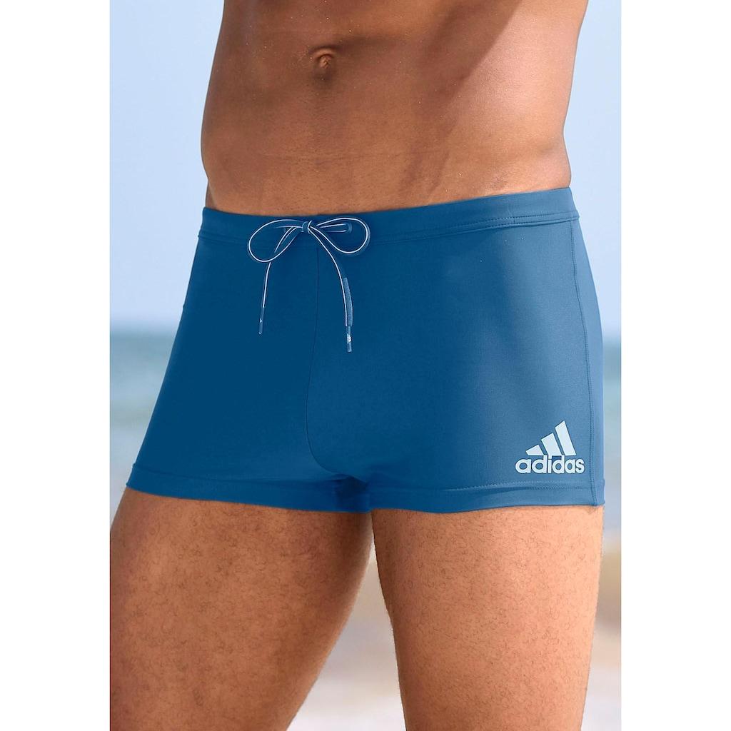 adidas Performance Boxer-Badehose, mit kontrastfarbenen Details