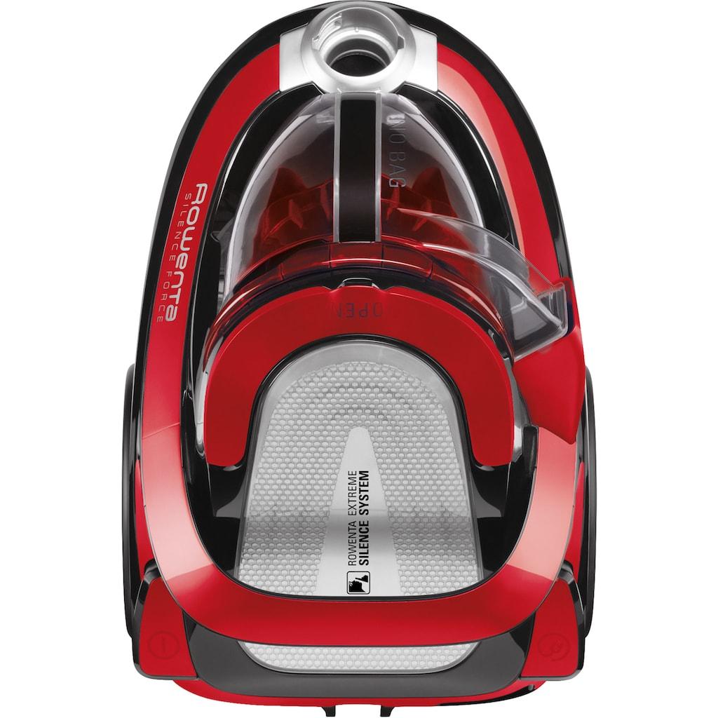 Rowenta Bodenstaubsauger »RO7649 Silence Force Cyclonic; Beutellos;«, 550 W, beutellos, Vacuum-Cleaner; Sehr Leise; 2,5L Staubvolumen; Tierhaar; Auto