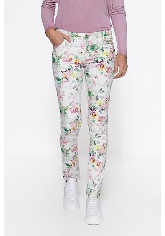ATT Jeans Slim-fit-Jeans »Belinda«, mit Flowerprint kaufen