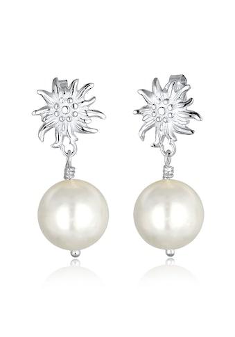 Elli Paar Ohrhänger »WIESN Tracht Edelweiss Perle Dirndl Silber« kaufen
