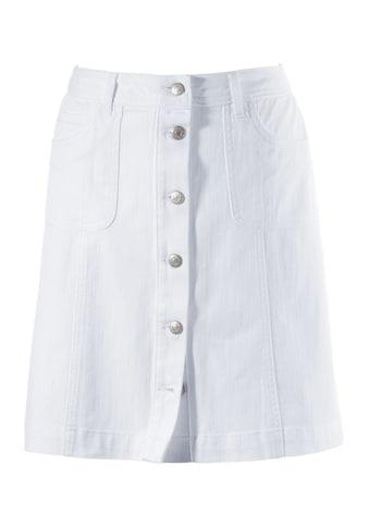 Aniston CASUAL Jeansrock, mit Knopfverschluss kaufen