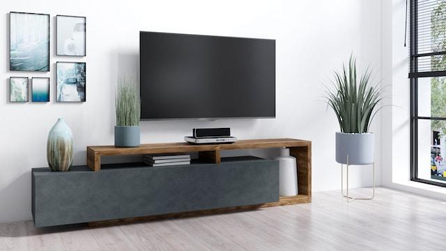 TV-Board in Beton-Optik
