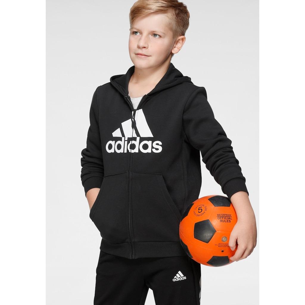 adidas Performance Kapuzensweatjacke »BOYS MUST HAVE BATCH OF SPORT FULLZIP FLEECE«