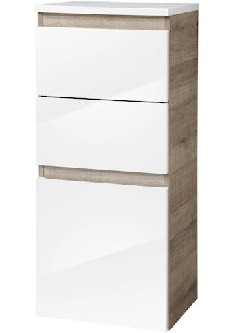 FACKELMANN Midischrank »Piuro«, Badmöbel H/B/T: 89,5 x 40,5 x 30,5 cm, 2 Schubladen, 1... kaufen