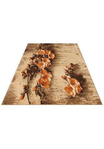 my home Teppich »Freya«, rechteckig, 8 mm Höhe, mit Blumen Design, Wohnzimmer kaufen