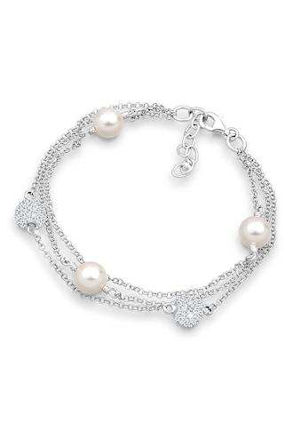 Elli Armband »Süßwasserzuchtperlen Kristalle Silber« kaufen