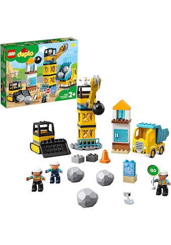 """LEGO® Konstruktionsspielsteine """"Baustelle mit Abrissbirne (10932), LEGO® DUPLO® Town"""", Kunststoff, (56 - tlg.) kaufen"""