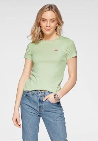 Levi's® T-Shirt »Rib Baby Tee«, mit Batwing-Logo-Stickerei kaufen