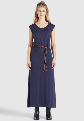 khujo Maxikleid »SUNIRI«, Jerseykleid mit schmalen Bindegürtel in der Taille kaufen