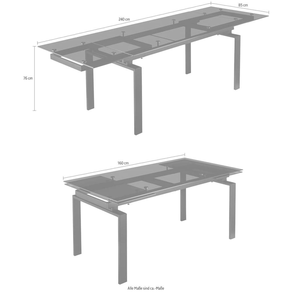 INOSIGN Esstisch »Amur«, Ausziehbar von 160 cm auf 240 cm, modernes Design