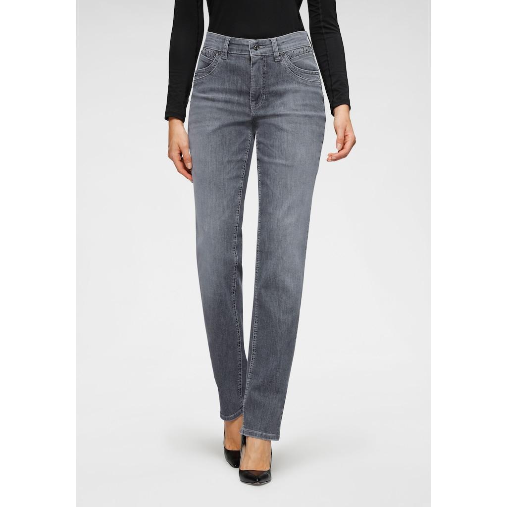 MAC Gerade Jeans »Melanie Smart«, Nieten an der vorderen Taschen