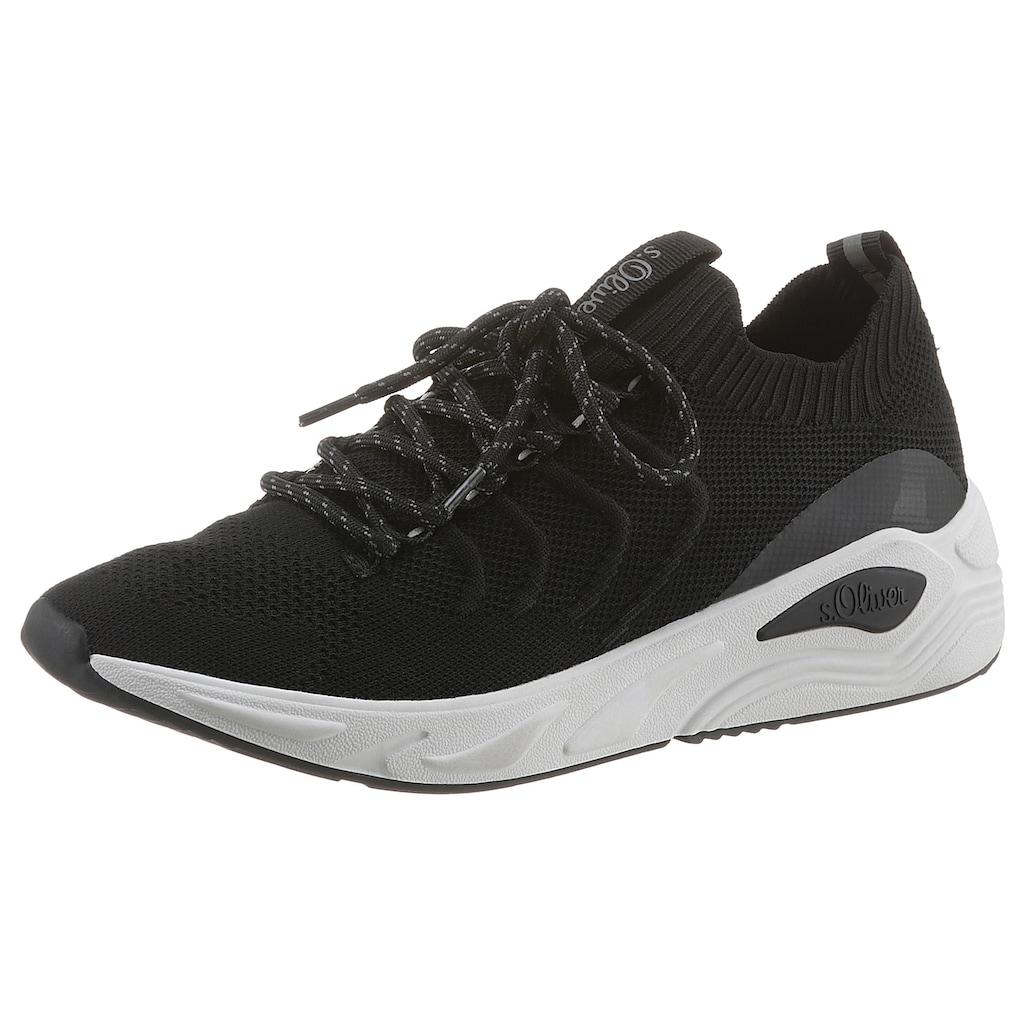 s.Oliver Slip-On Sneaker, in Knitwear Optik