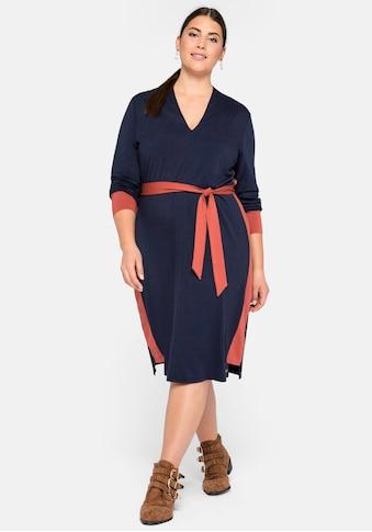 Sheego Jerseykleid, mit Kontraststreifen kaufen