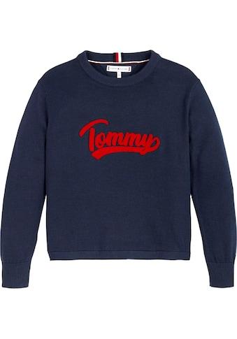 TOMMY HILFIGER Strickpullover »VARSITY LOGO«, mit Logo Schriftzug kaufen