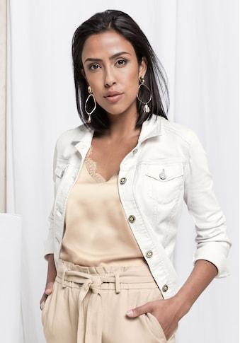 bianca Jeansjacke »JUNE«, im cleanen Look mit modernem Hemdkragen kaufen