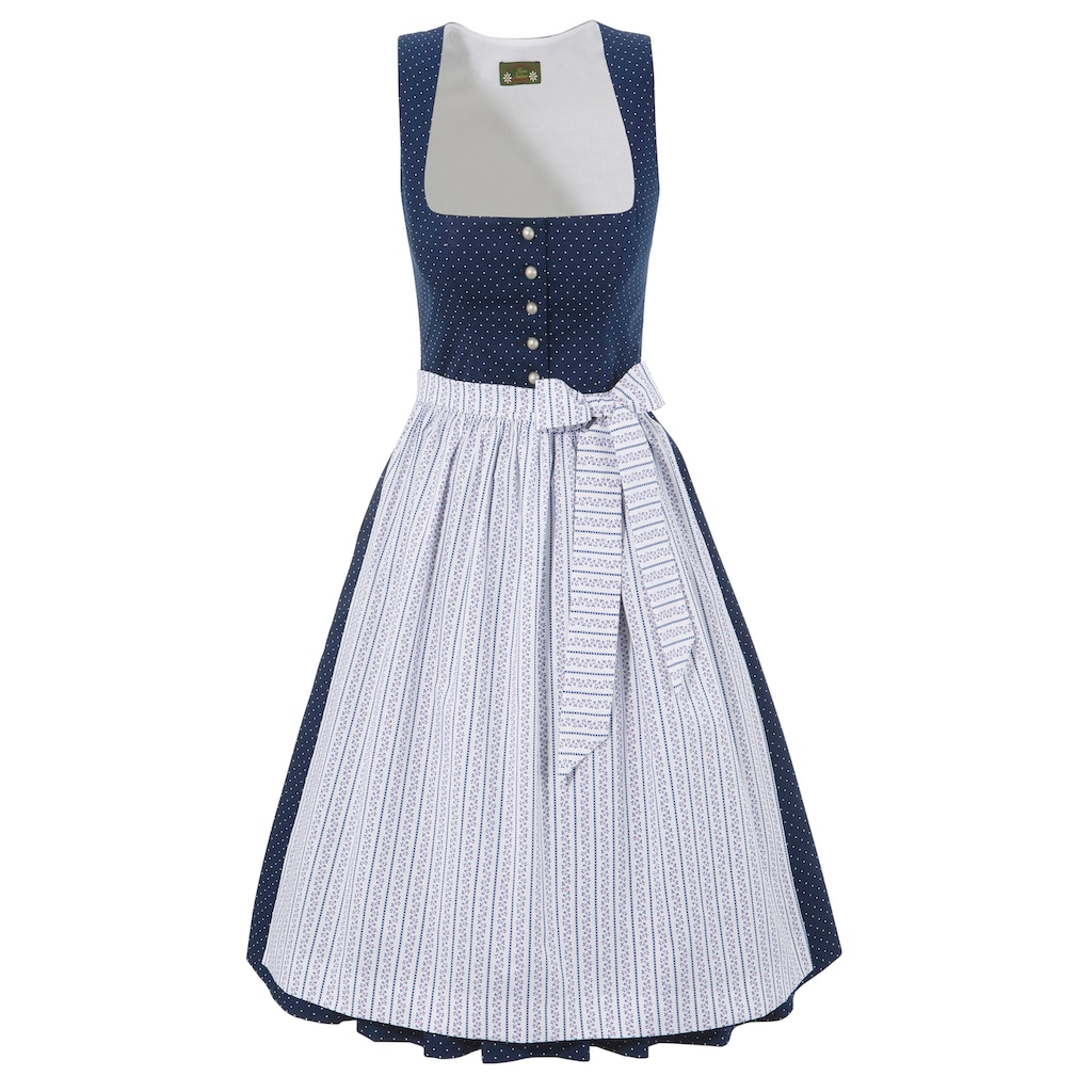 Love Nature Dirndl, (2 tlg.), midi mit Punktemuster - Made in Austria