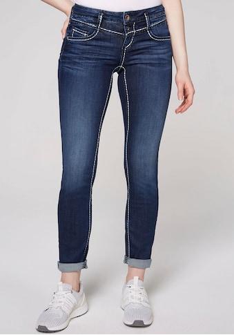 SOCCX Skinny-fit-Jeans, mit kontrastfarbenen Ziernähten kaufen