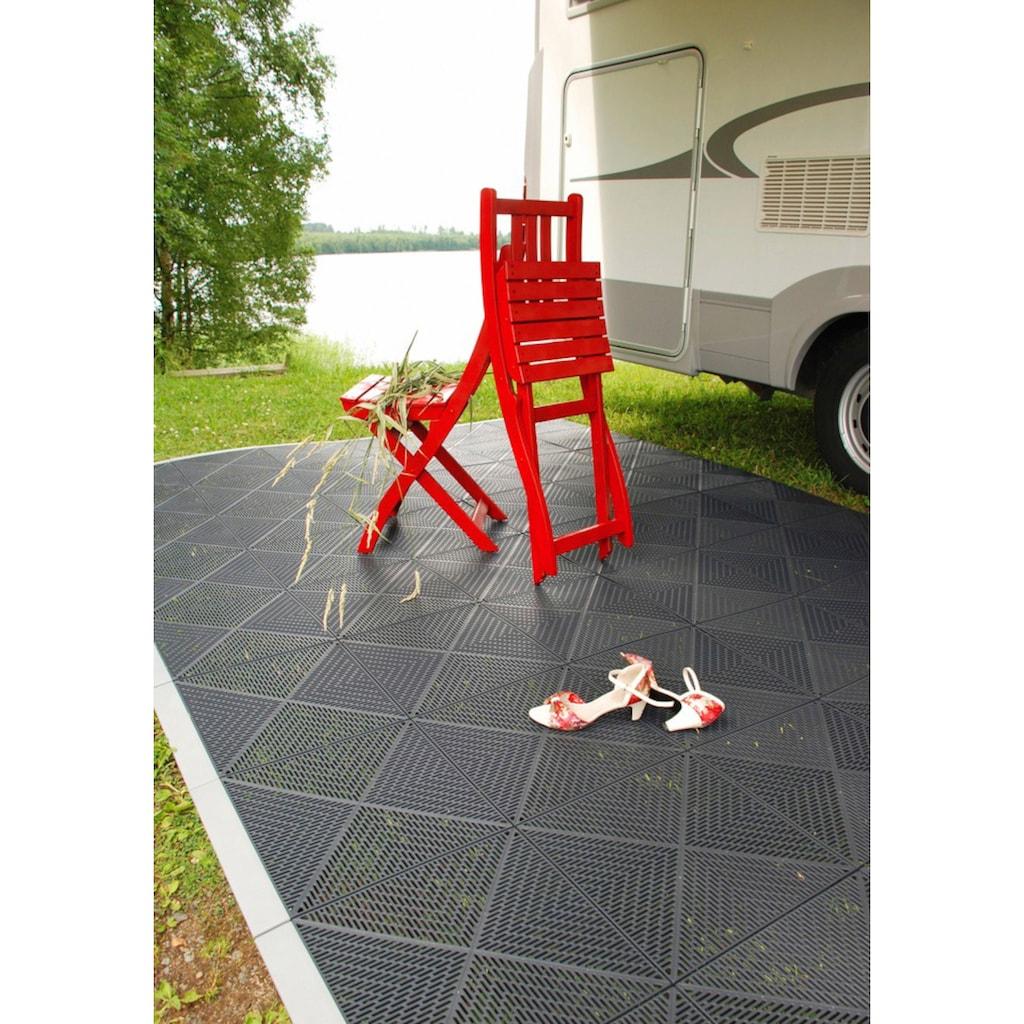 Bergo Flooring Terrassenplatten »Unique Anthrazit«, Kunststofffliesen, einfach ineinanderstecken, 2 m²