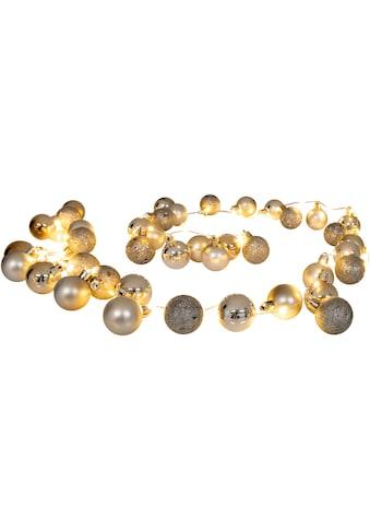 näve LED-Lichterkette »LED-Outdoor-Weihnachtslichterkette l: 150cm gold«, Timer kaufen