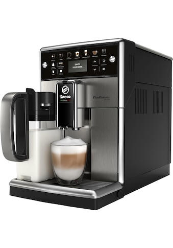Saeco Kaffeevollautomat »SM5573/10 PicoBaristo Deluxe«, integriertes Milchsystem, edelstahl kaufen