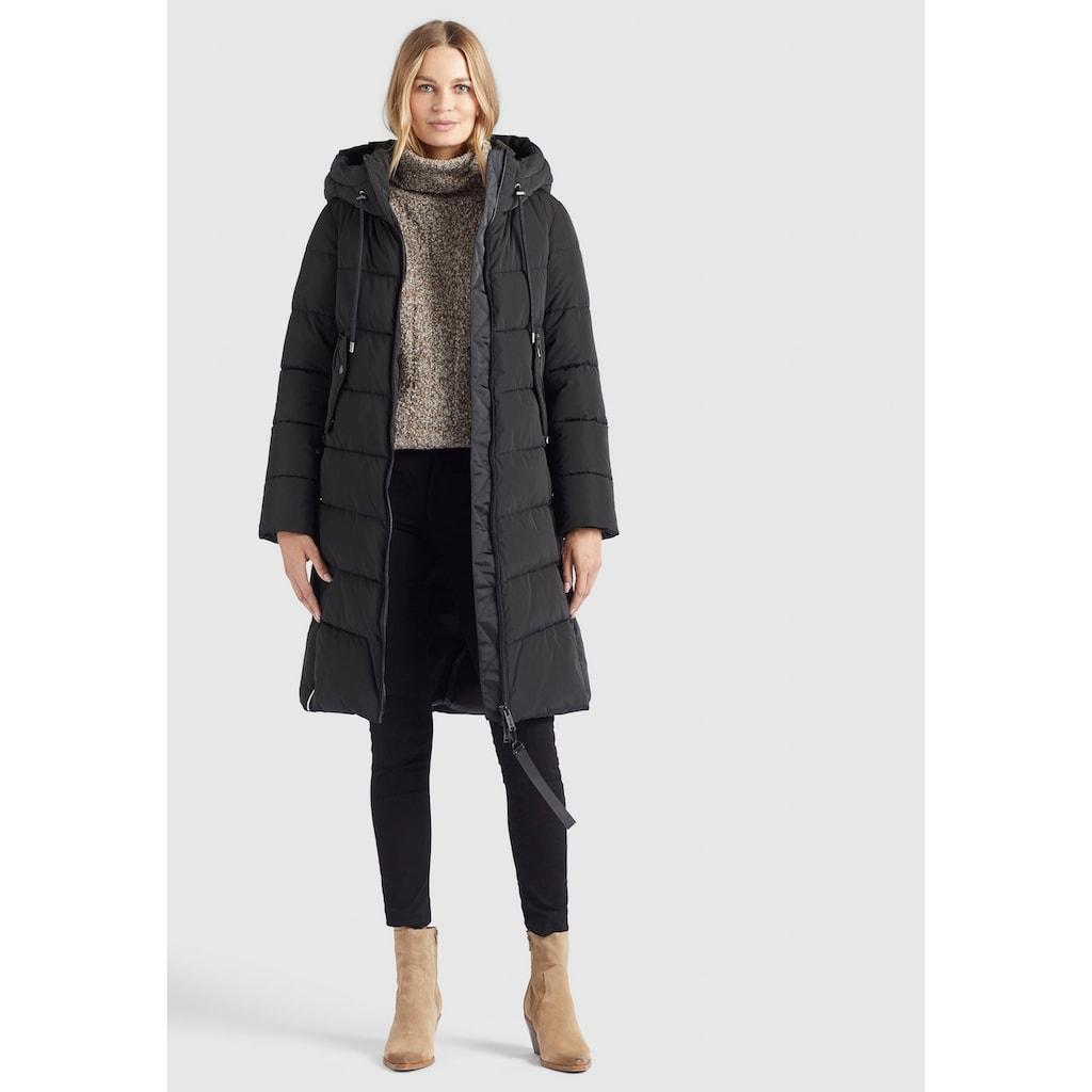 khujo Steppjacke »AYLEENA«, stylischer Damen Winter Steppmantel mit Kapuze
