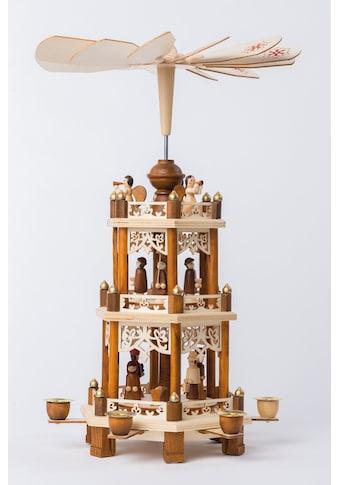 HGD Holz - Glas - Design Pyramide für 6 Pyramidenkerzen Christi Geburt kaufen